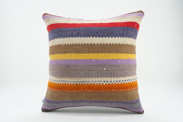 Turkish Kilim Pillow 16x16, ID 547, Kilim From Malatya
