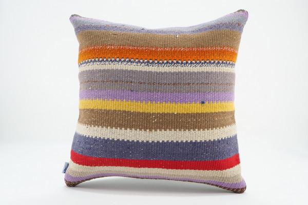 Turkish Kilim Pillow 16x16, ID 550, Kilim From Malatya