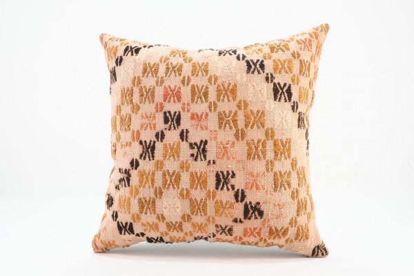 Turkish Kilim Pillow 16x16, ID 551, Kilim From Malatya