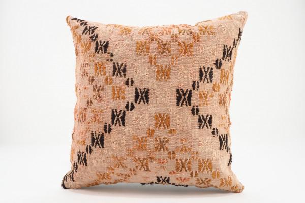 Turkish Kilim Pillow 16x16, ID 554, Kilim From Malatya
