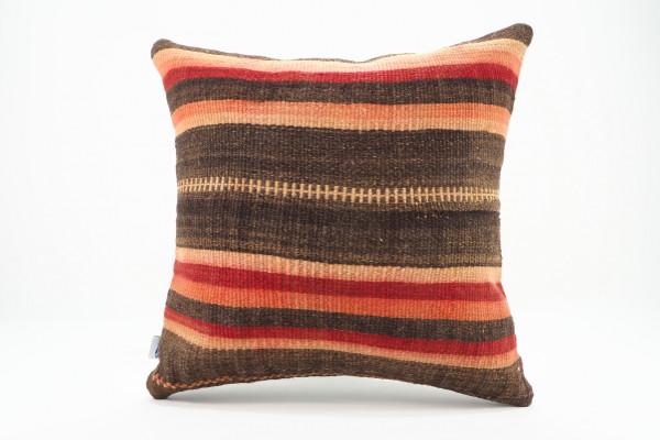 Turkish Kilim Pillow 16x16, ID 555, Kilim From Malatya