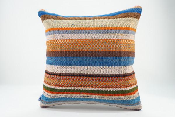 Turkish Kilim Pillow 16x16, ID 556, Kilim From Malatya