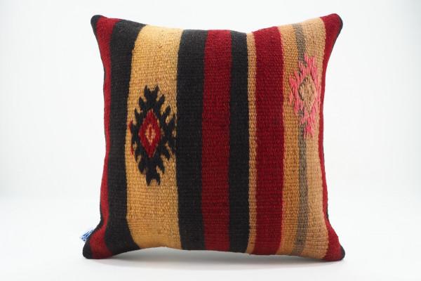 Turkish Kilim Pillow 16x16, ID 557, Kilim From Malatya