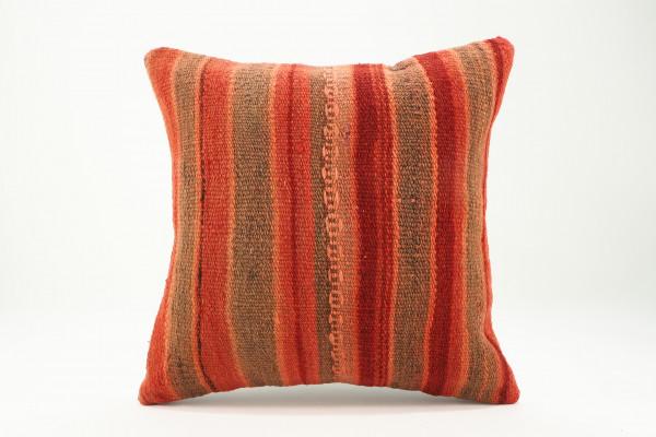 Turkish Kilim Pillow 16x16, ID 558, Kilim From Malatya