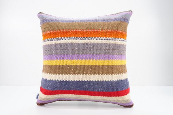 Turkish Kilim Pillow 16x16, ID 563, Kilim From Malatya