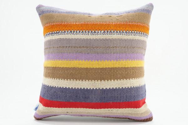Turkish Kilim Pillow 16x16, ID 564, Kilim From Malatya