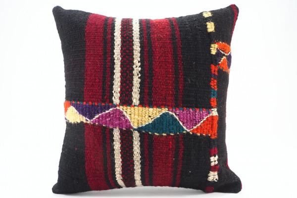 Turkish Kilim Pillow 16x16, ID 567, Kilim From Malatya