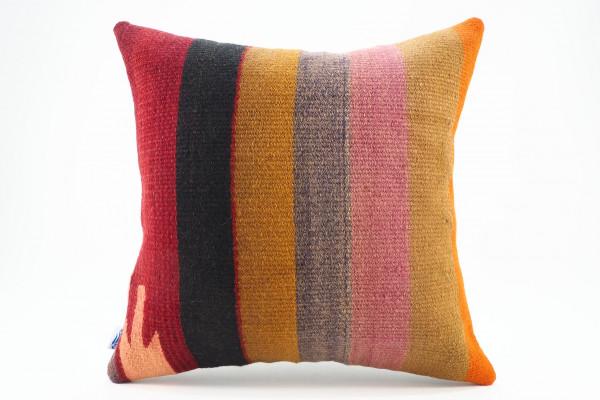 Turkish Kilim Pillow 16x16, ID 569, Kilim From Malatya