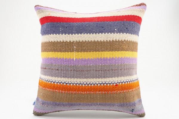Turkish Kilim Pillow 16x16, ID 572, Kilim From Malatya