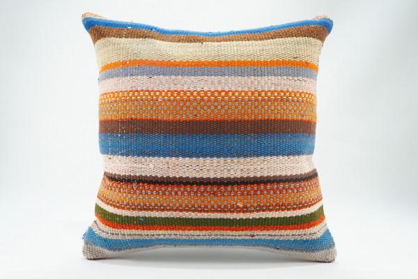 Turkish Kilim Pillow 16x16, ID 573, Kilim From Malatya