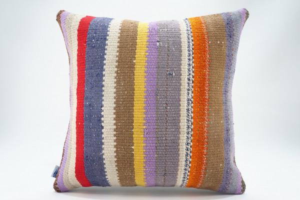 Turkish Kilim Pillow 16x16, ID 574, Kilim From Malatya