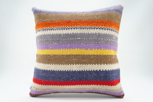 Turkish Kilim Pillow 16x16, ID 578, Kilim From Malatya
