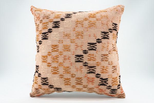 Turkish Kilim Pillow 16x16, ID 578, Kilim From Malatya