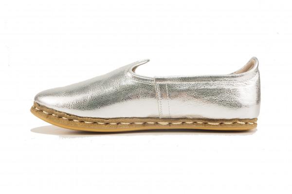 Turkish Handmade Shoes,Yemeni Hand Stitched Shoes,Silver Handmade Sabah Shoes