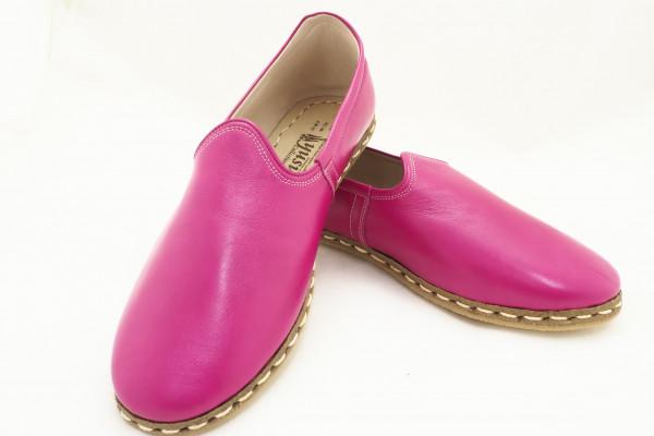 Turkish Yemeni Pink Handmade and Hand Stitched Shoes