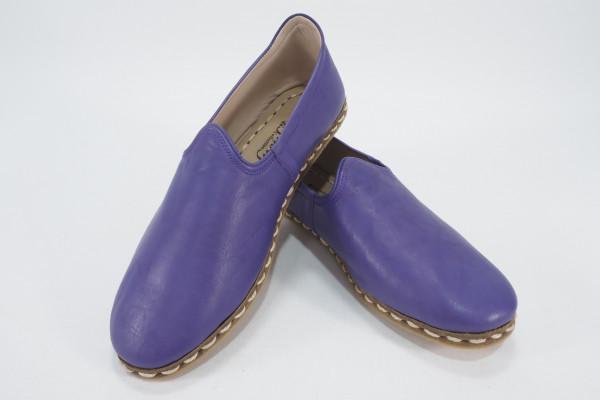 Turkish Yemeni Purple Handmade and Hand Stitched Shoes